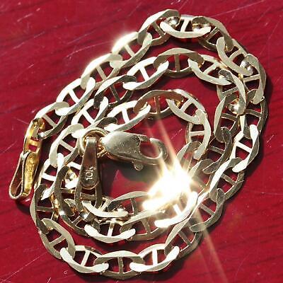 "10k 417 yellow gold solid gucci link chain bracelet 7.0"" vintage 1.8gr"