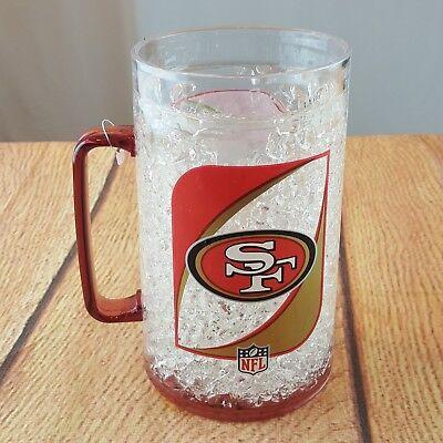 Pro Sports NFL San Francisco 49ers Crystal Monster Freeze Mug 40 oz Football Crystal San Francisco 49ers Football