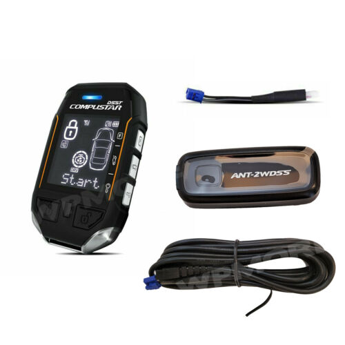 Compustar 2WT11R-SS 3-Mile LCD Remote + ANT-2WDSS Antenna + Cable + FT-TEMP