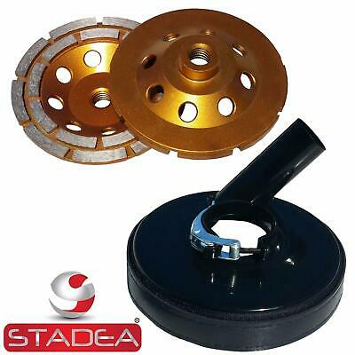 Stadea 5 Grinder Dust Shroud With 5 Concrete Grinding Cup Wheel-58 11 Thread