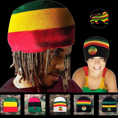 Rasta Beanie Tam Cap Hat Rastafari Selassie Africa Jamaica Reggae Beanie 1SZ FIT](Tam Hat)