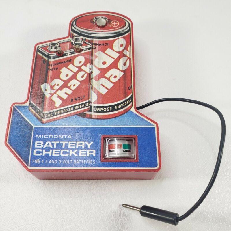 Vintage Radio Shack Micronta Battery Checker, Model 22-098, 1982-1989 Tested