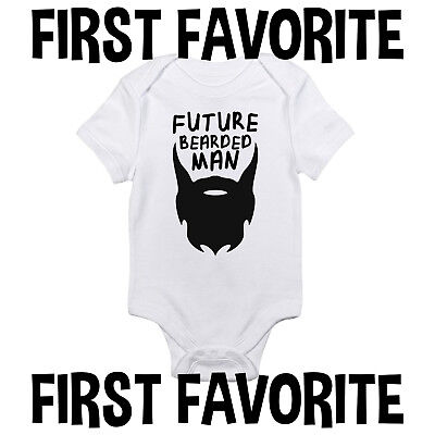 Future Bearded Man Baby Onesie Shirt Shower Gift Funny Newborn Clothes Gerber (Mens Funny Onesie)