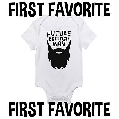 Future Bearded Man Baby Onesie Shirt Shower Gift Funny Newborn Clothes Gerber](Funny Mens Onesie)