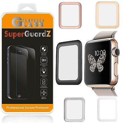 Tempered Glass FULL COVER Screen Protector Guard For Apple Watch Series 3 42 - 3 Screen Protector Guard