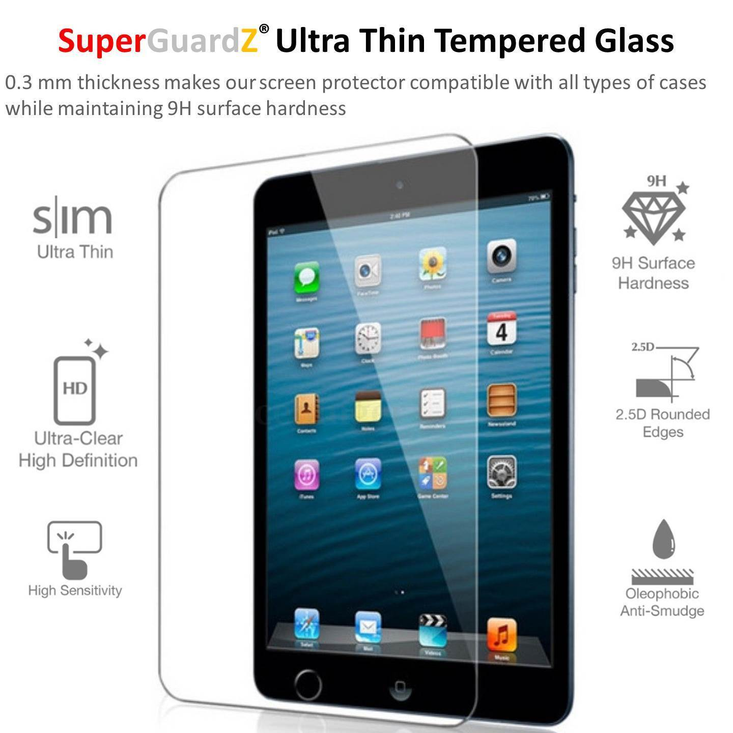 2X For iPad 9.7 (2018 / 2017) 5th 6th Gen /Air - Tempered Glass Screen Protector
