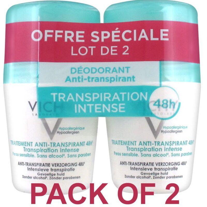 Vichy 48H Intensive Anti-perspirant Deodorant Roll-on 2 x 50ml   US Seller