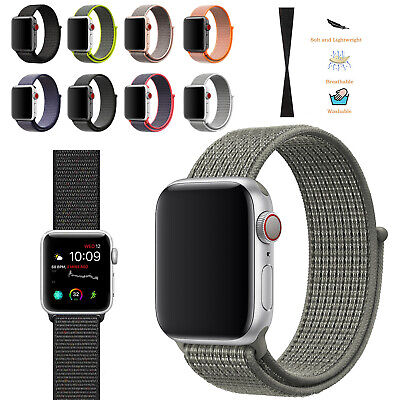 Woven Nylon Sport Loop Wrist Band Strap For iWatch Apple Watch Series 1 2 3 4 5