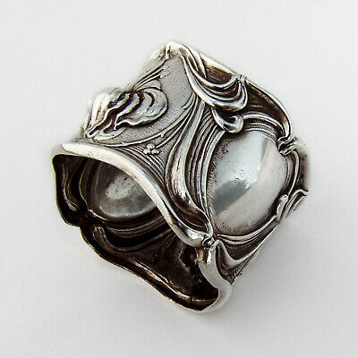 Amelia Napkin Ring Frank Whiting Sterling Silver 1910 Inscribed