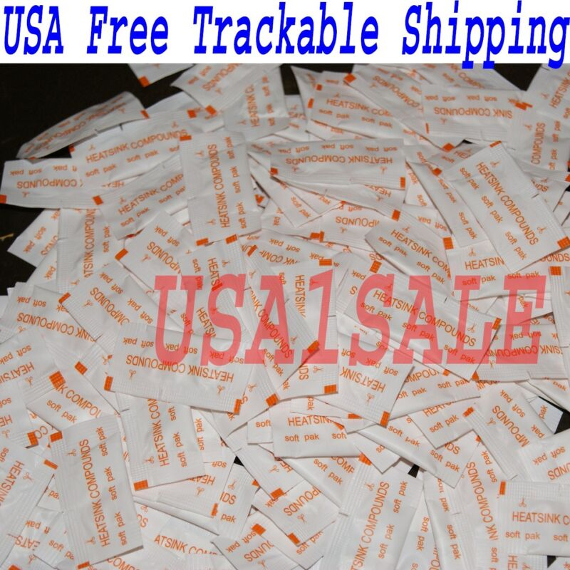 Lot of 100 pcs White Heatsink Compounds Thermal Paste Grease USA free shipping √