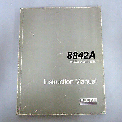 Fluke 8842a Digital Multimeter Instruction Manual Pn 765313