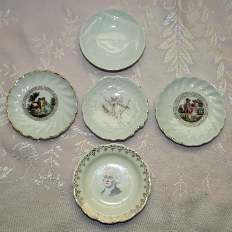 Group of 5 Vintage Butter Pats