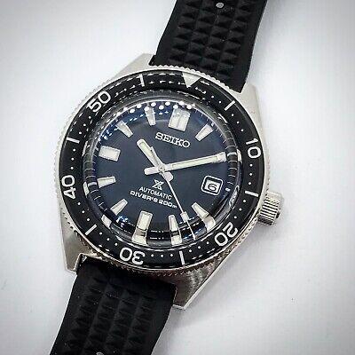 Seiko 62MAS Automatic Divers Watch Sapphire Crystal Waffle Strap SPB051 Mod