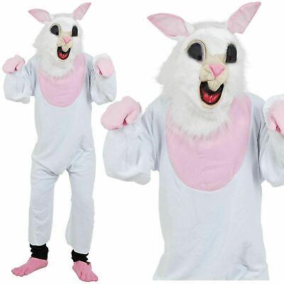 Conejo Pascua Disfraz Conejo con Peluche Hombre Mujer Mascota Disfraz Adulto