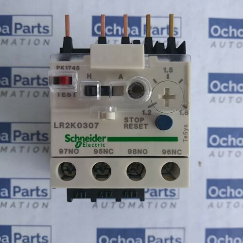 SCHNEIDER ELECTRIC LR2K0307 DIFFERENTIAL THERMAL OVERLOAD RELAY 1.20-1.80