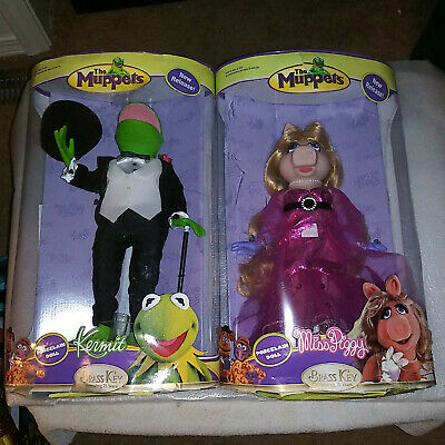 """The Muppets Kermit The Frog & Miss Piggy 12"""" DOLLS Unopened 2006"""