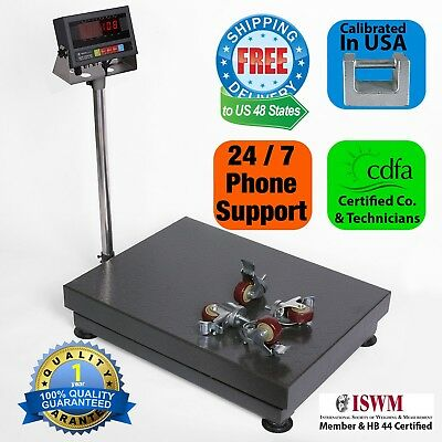 New 1000lb0.1lb Bench Shipping Scalefloor Scalecheckweigher Scale W Casters