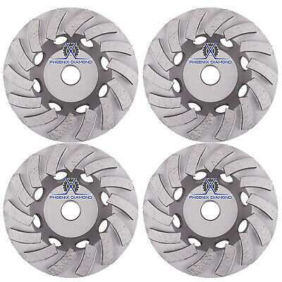 4pck 5double Turbo Diamond Grinding Cup Wheel For Concrete 18 Seg-58-11thread