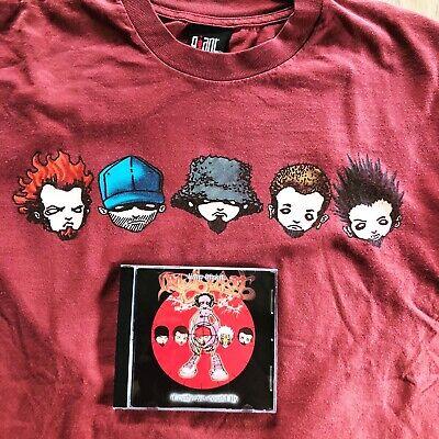 [Rare GIANT VTG] Limp Bizkit Bus Shirt & LIVE Bootleg CD/ Korn Slipknot Deftones