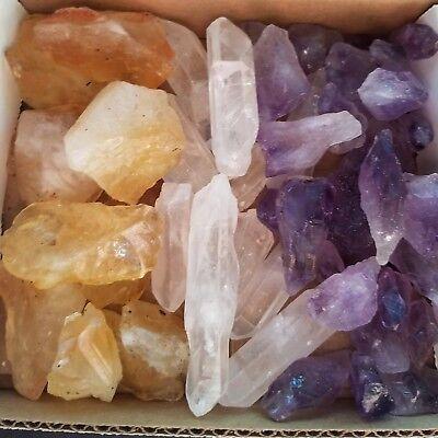 Crystal Collection 1Lb Lb Lots Natural Points   Blades Amethyst Quartz Citrine