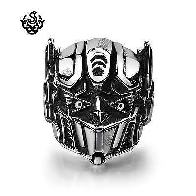 Optimus Prime Ring (Silver ring stainless steel Transformer Autobots Optimus Prime solid soft)