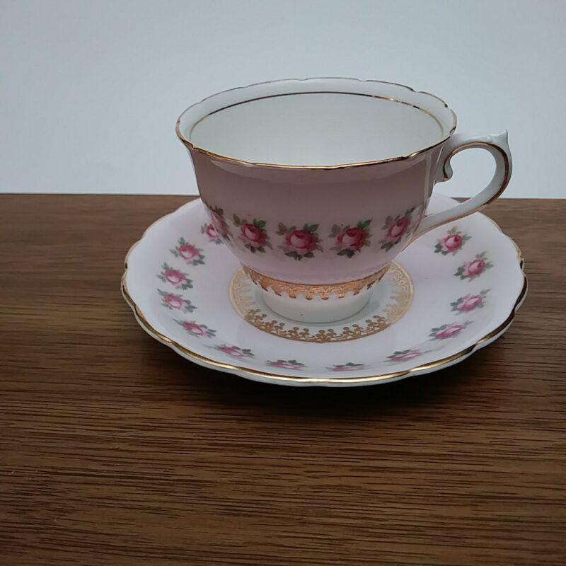 Colclough China Made in Longton England Genuine Bone China Teacup & Saucer