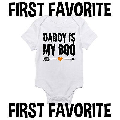 Daddy Is My Boo Baby Onesie Shirt Dad Halloween October Newborn Gerber