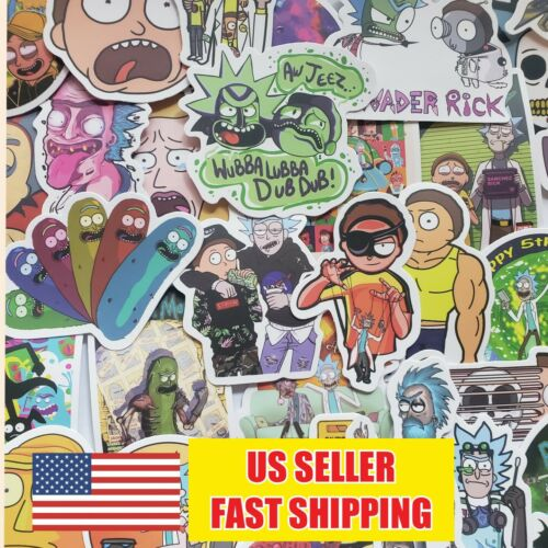 Home Decoration - 50- Rick and Morty Stickers Pickle Rick Vinyl Decal Stickers for Laptop Car