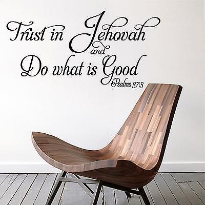 Wall Decal. Inspirational Decal. Bible Scripture. Psalm 37:3 Trust in (Inspirational Bible Scriptures)