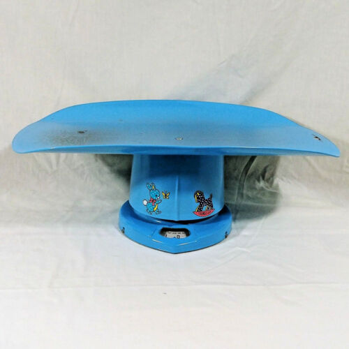 Nursery Baby Scale For Home Use Baby Blue Vintage Tested Works