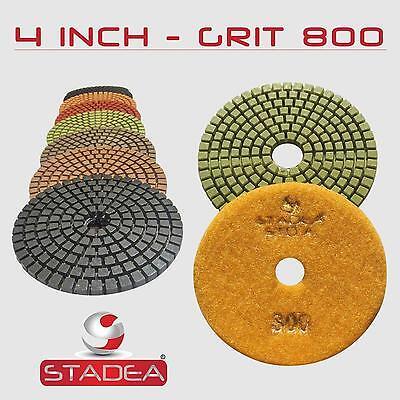 Stadea 4 Diamond Polishing Pad Grit 800 For Granite Concrete Wet Grinder Floor