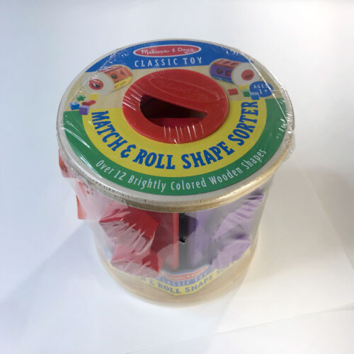 Melissa & Doug MATCH AND ROLL SHAPE SORTER #9041 Educational Shapes And Colors