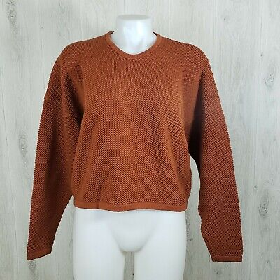 Chris Triola Size M Boxy Thick Pullover Sweater 100% Cotton 100% Cotton Pullover Sweater