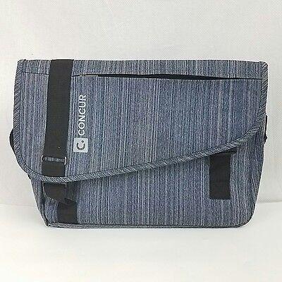 Concur Company Logo Messenger Bag  Grey And Black
