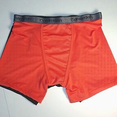 Calvin Klein Air FX Boxer Briefs Boy's Underwear - 2 Pair - Orange, Black