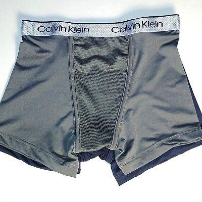 Calvin Klein Air FX Boxer Briefs Boy's Underwear - 2 Pair, Gray & Dark Navy