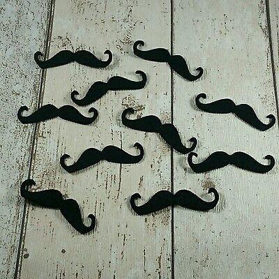 Moustache shapes, felt die cut, felt moustache, felt supplies, die cut moustache