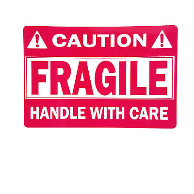 Premium Waterproof Fragile Sticker 2 X 3 Handle With Care 500 Per Roll