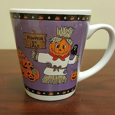 Halloween Pumpkin For Sale Jack-o-latern Coffee Mug Purple