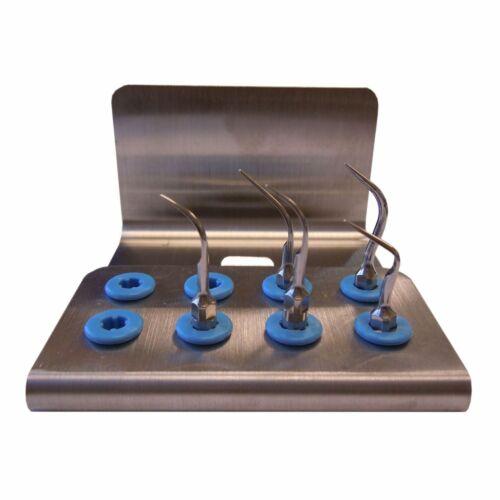 Surgical Dentistry-5pc. Scaler Tip Set + Cassette Holder Premium Quality-DoWell