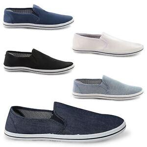 NUOVA-linea-uomo-Canvas-Casual-scarpe-Trainer-Ginnastica-Mocassino-Mocassini-STRINGATI-TG-UK-7-12