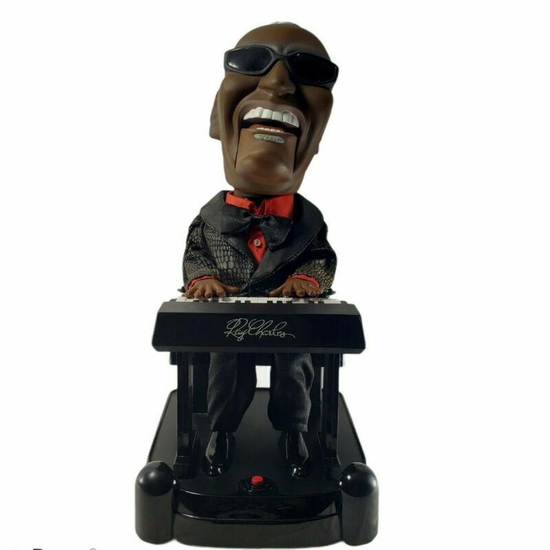 RAY CHARLES Animated Singing Piano Playing Swaying Battery OP Toy GEORGIA RARE