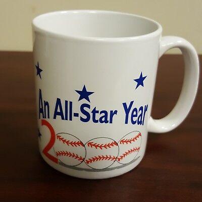 An All Star Year 2000 Baseball Coffee Mug Atlanta Journal Constitution