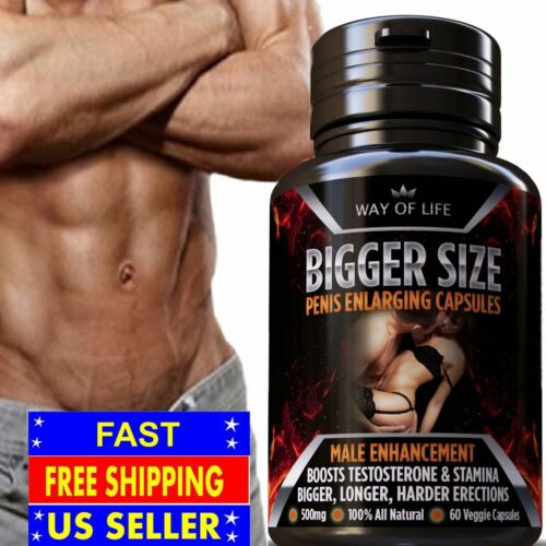 MALE PENIS ENLARGER ENHANCEMENT PILLS BIGGER SIZE HARDER DICK GROW LONGER