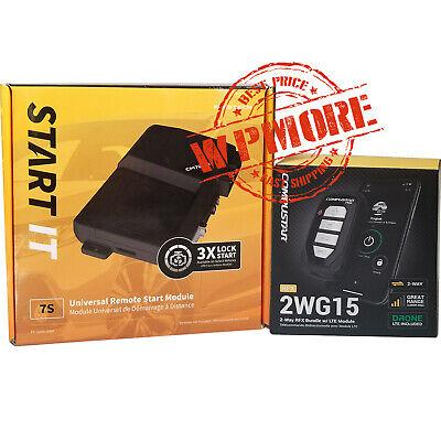 Compustar RFX 2WG15 FM 2Way LED RF Remote DR X1 LTE + FT 7200S Start IT     2WR3