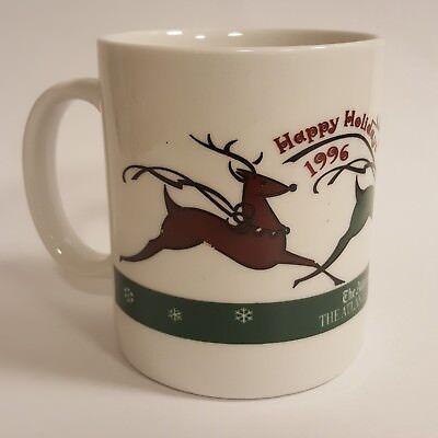 1996 Happy Holidays Coffee Mug Atlanta Journal Atlanta Constitution Reindeer B64