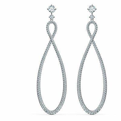 Swarovski  INFINITY HOOP Pierced Earrings  5518878 Eternity Hoop Pierced Earrings