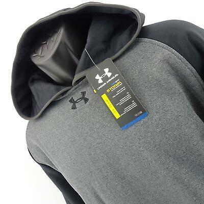NWT Men Under Armour Loose Storm ColdGear Running Pullover Hoodie Sweat Shirt XL