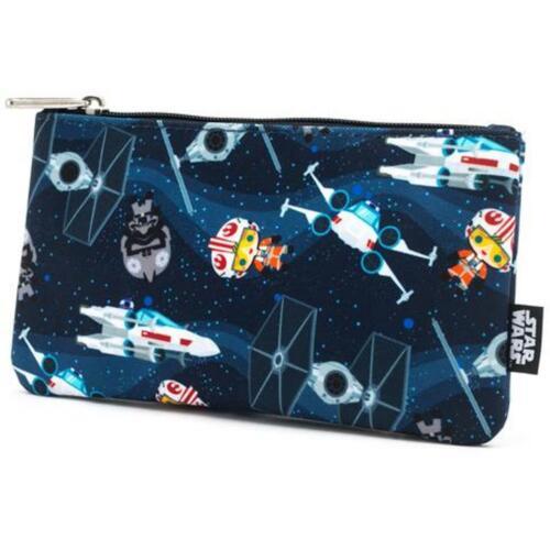 Star Wars Chibi Ships Zip Pouch Case Zip Cosmetic Bag Case Loungefly NIP