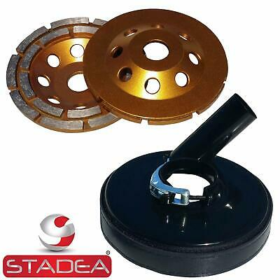 Stadea Grinder Dust Shroud With 5 Concrete Grinding Cup Wheel - 78 Hole